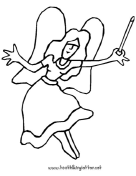 Fairy With Open Arms Coloring Page