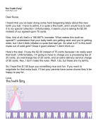 Tooth Fairy Letter Child Asking For More