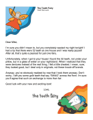 Tooth Fairy Letter — Dentures