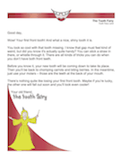 Tooth Fairy Letter for First Front Tooth