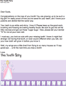 Tooth Fairy Letter For A Girl
