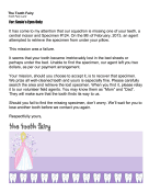 Tooth Fairy Letter Missing Tooth