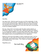 Tooth Fairy Letter Older Kid