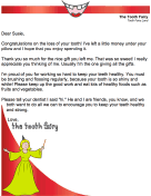 Tooth Fairy Letter — Thanks For Gift