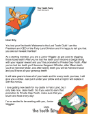 Tooth Fairy Letter — Welcome to Club
