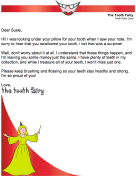 Tooth Fairy Letter — Child Swallowed Tooth