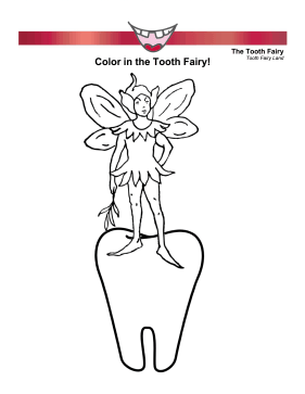 Boy Tooth Fairy Coloring Page