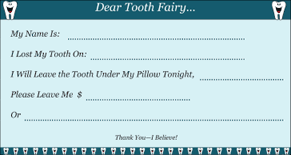 Letter to Tooth Fairy (2 per page)