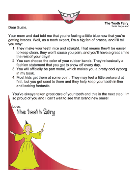 Tooth Fairy Letter — Braces