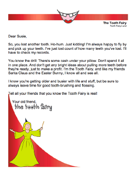 Tooth Fairy Letter — Older Child