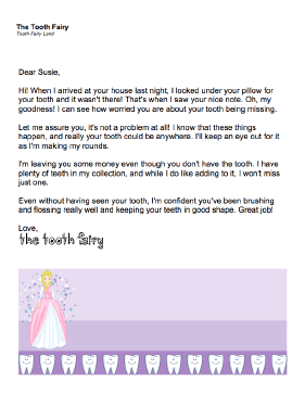 Tooth Fairy Letter — Tooth Is Missing