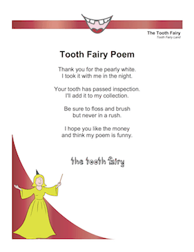 Funny Tooth Fairy Poem