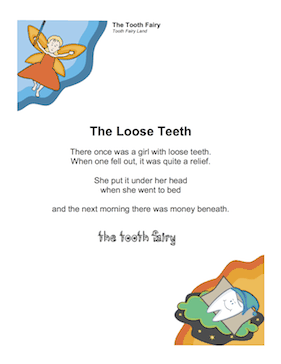 Tooth Fairy Poem for Girl