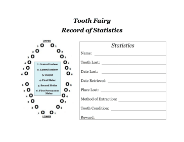 Tooth Fairy Record of Statistics