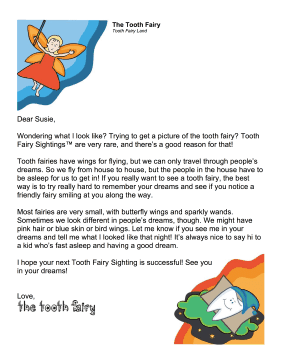 Tooth Fairy Sightings