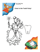 Girl Tooth Fairy Coloring Page