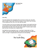 Tooth Fairy Letter — First Tooth