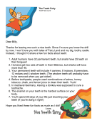 Tooth Fairy Letter — Fun Facts