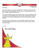 Tooth Fairy Letter — Hall of Fame