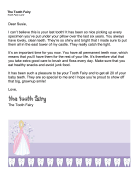 Tooth Fairy Letter — Last Tooth