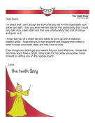 Tooth Fairy Rejection Letter